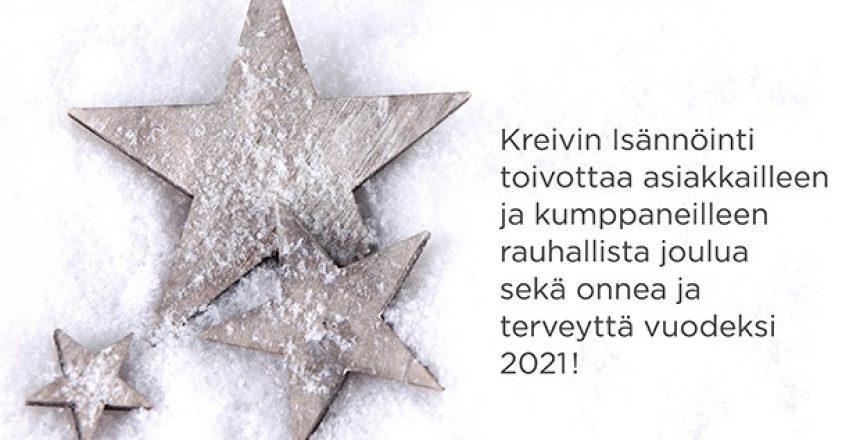 Joulutervehdys 2020